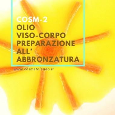 Olio viso-corpo preparazione all'abbronzatura - COSM-2