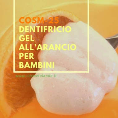 Dentifricio gel all'arancio per bambini – COSM-25