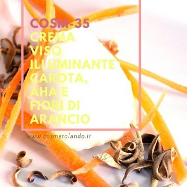 Crema viso illuminante carota, AHA e fiori di arancio – COSM-35