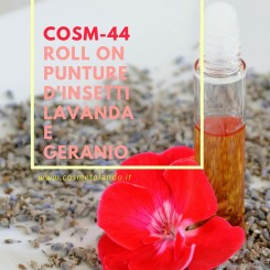 Home Roll on punture d'insetti lavanda e geranio – COSM-44 COSM-44