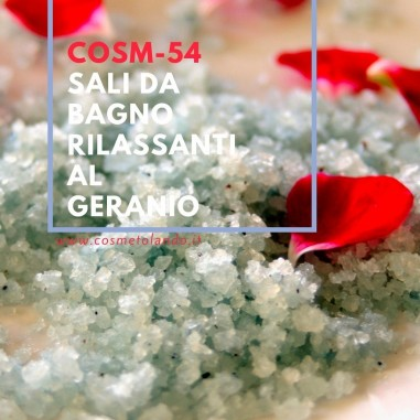 Sali, Bombe e Polveri da Bagno Sali da bagno rilassanti al geranio – COSM-54 COSM-54