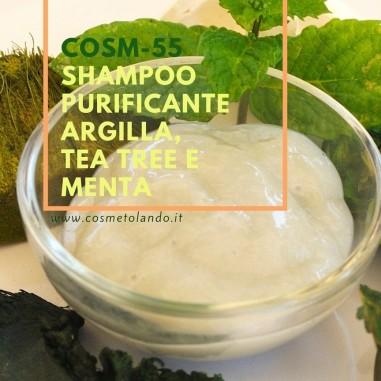 Shampoo purificante argilla, tea tree e menta  – COSM-55