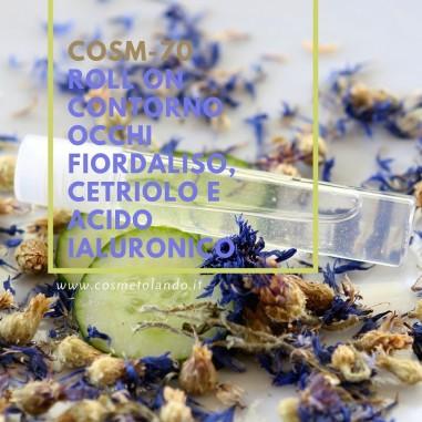 Roll on contorno occhi fiordaliso, cetriolo e acido ialuronico – COSM-70