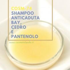 Home Shampoo anticaduta bay, cedro e pantenolo – COSM-74 COSM-74