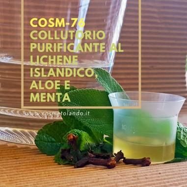 Home Collutorio purificante al lichene islandico, aloe e menta – COSM-76 COSM-76