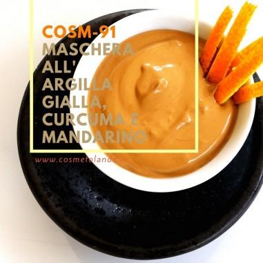 Maschera all'argilla gialla, curcuma e mandarino – COSM-91