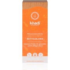 Materie per cura Capelli-Cuoio Capelluto Tinta Vegetale KHADI Biondo Medio (Miele)