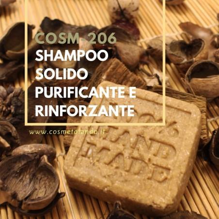 Home Shampoo solido purificante e rinforzante – COSM-206 COSM-206