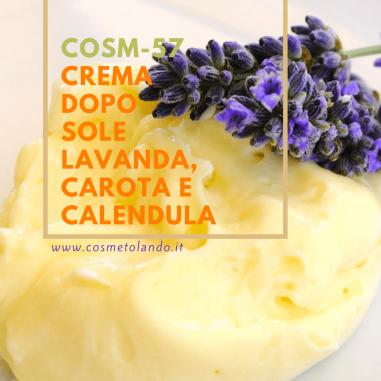 Riparatore e Lenitivo Crema dopo sole lavanda, carota e calendula – COSM-57 COSM-57