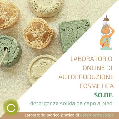 Home Laboratorio Online di Autoproduzione - SO.DE. Detergenza Solida da capo a piedi - in differita