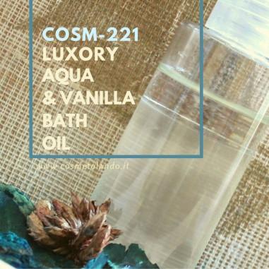 RICETTE COSMETICI FAI DA TE Luxory Aqua & Vanilla Bath Oil – COSM-221 COSM-221