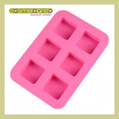 Stampi in Silicone Stampo Quadrato 6 forme