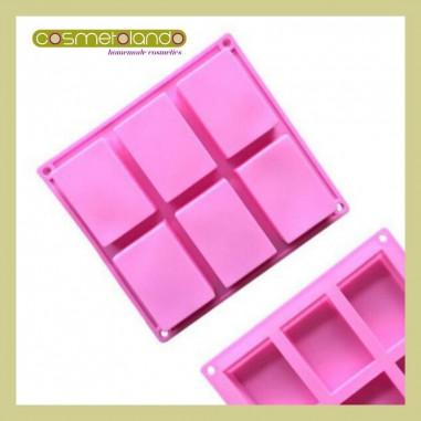 Stampi in Silicone Stampo Rettangolo 6 forme