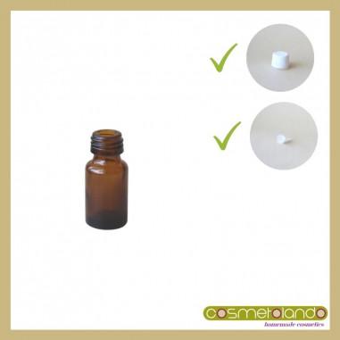 Flaconi Vetro Ambra Flacone vetro ambra 5 ml PFP 18 con tappo sigillo e contagocce