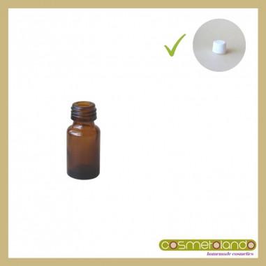 Flaconi Vetro Ambra Flacone vetro ambra 5 ml PFP 18 con tappo sigillo
