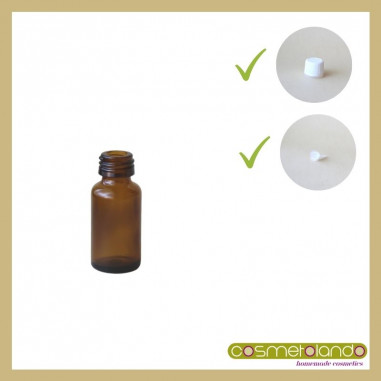 Flaconi Vetro Ambra Flacone vetro ambra 10 ml PFP 18 con tappo sigillo e contagocce