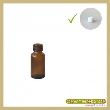 Flaconi Vetro Ambra Flacone vetro ambra 10 ml PFP 18 con tappo sigillo
