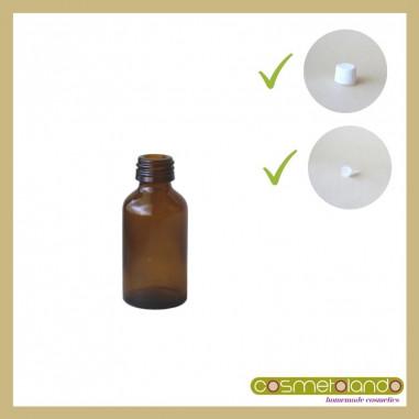Flaconi Vetro Ambra Flacone vetro ambra 20 ml PFP 18 con tappo sigillo e contagocce