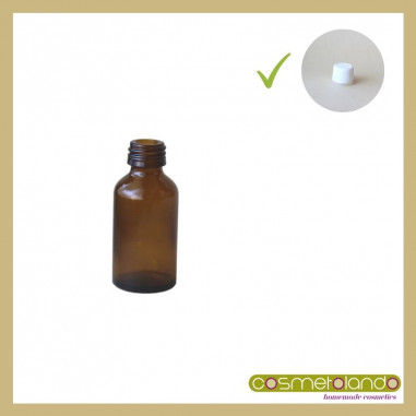 Flaconi Vetro Ambra Flacone vetro ambra 20 ml PFP 18 con tappo sigillo