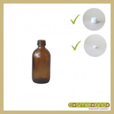 Flaconi Vetro Ambra Flacone vetro ambra 50 ml PFP 18 con tappo sigillo e contagocce