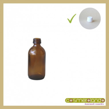 Flaconi Vetro Ambra Flacone vetro ambra 50 ml PFP 18 con tappo sigillo
