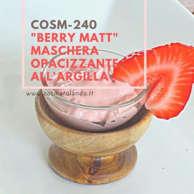 "Maschere viso \\""Berry Matt\\"" maschera opacizzante all'argilla – COSM-240 COSM-240"