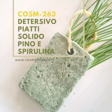 RICETTE COSMETICI FAI DA TE Detersivo Piatti Solido Pino e Spirulina – COSM-263 COSM-263