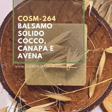 RICETTE COSMETICI FAI DA TE Balsamo solido Cocco, Canapa e Avena – COSM-264 COSM-264